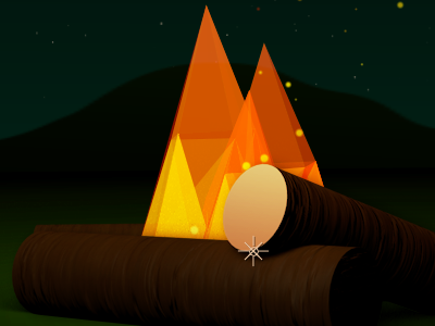 Pixel Fire ae plexus camping fire pixel motion graphics design justin kohse