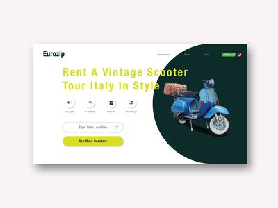 Vehicle Rental Landing Page