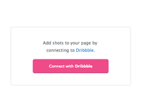 Connect to Dribbble