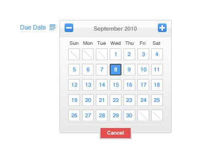 Date Picker ui calendar