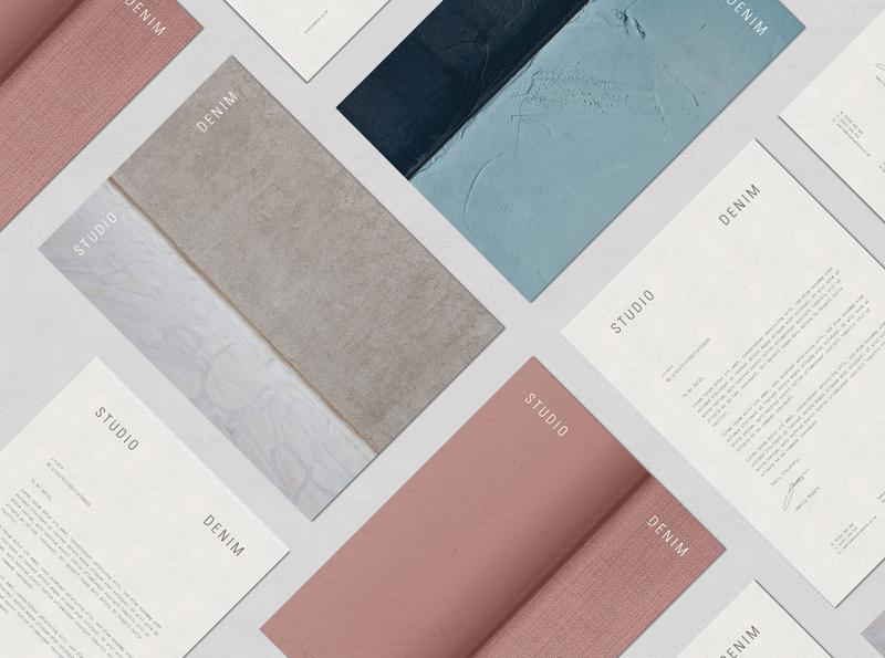 Studio Denim Interiors Letterheads tactile design interior design print letterhead identity rebrand agency branding logo brand identity logo design branding