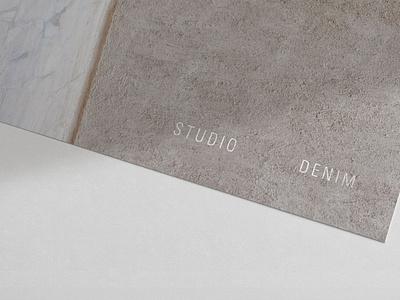 Studio Denim Interiors Logo print texture wordmark tactile design interior design interiors marque rebrand logo agency branding brand identity logo design branding