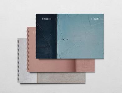 Studio Denim Interiors Presentation Covers marque identity rebrand logo agency branding brand identity logo design branding