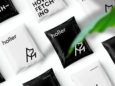 Holler Dog Boutique Branded Packaging packaging design packaging marque identity rebrand agency branding logo brand identity logo design branding