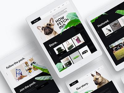 Holler Dog Boutique Branding Website uiux website design marque identity agency branding brand identity logo design branding