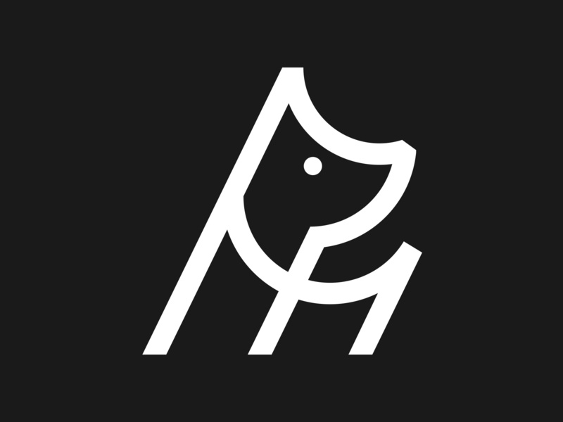 Holler Dog Icon dogicon doglogo marque identity agency branding logo brand identity logo design branding