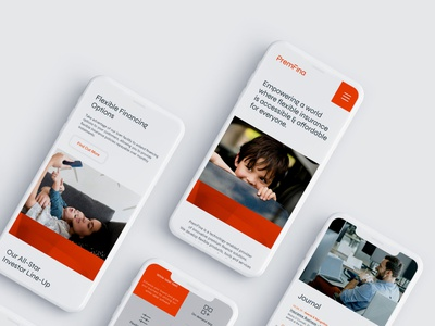 PremFina Corporate Rebrand Website uiux website design corporate branding
