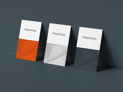PremFina Business Cards logo design logo branding brand identity business card design corporate identity