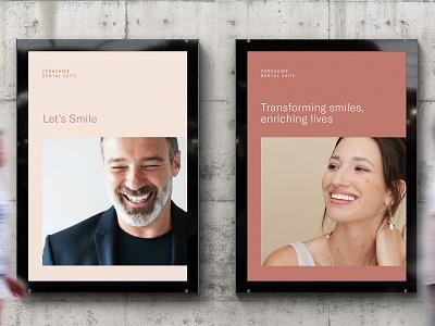 Yorkshire Dental Suite Brand Identity Poster Design dentist brand identity dentistry poster design rebrand agency branding brand identity branding