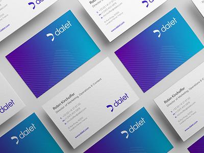 Dalet - Global Rebrand print businesscardsdesign identity rebrand corporate branding agency branding brand identity logo design branding