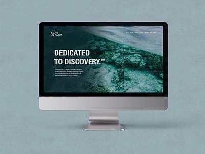 RS Aqua Brand Identity Website marine science website ux ui uiux websitedesign marine science