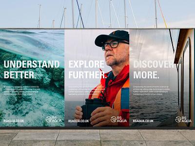 RS Aqua Brand Identity rebrand identity marque logo design branding brand identity poster design science branding marine branding