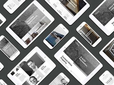 Ethos Responsive Website Design mobile design mobile website web design ethos website design corporate design responsive website design branding minimal branding corporate website design ethos branding
