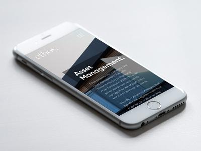 Ethos Mobile Website Design mobile design mobile website web design ethos website design corporate design responsive website design branding minimal branding corporate website design ethos branding