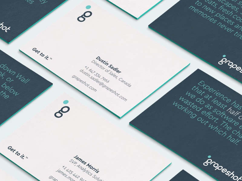 Grapeshot Custom Business Cards by Fable&Co. - Dribbble