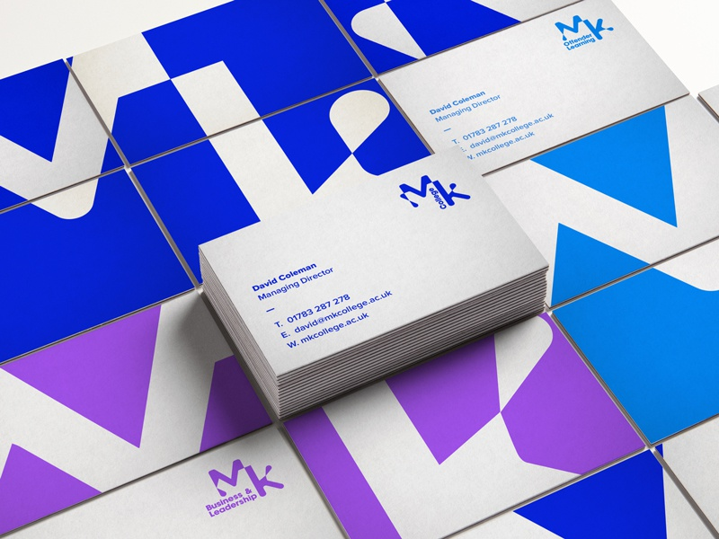 Milton keynes college business cards by fableco dribbble business cards fableco embarked on a strategic rebrand on behalf of milton keynes college research highlighted that the existing brand identity had colourmoves