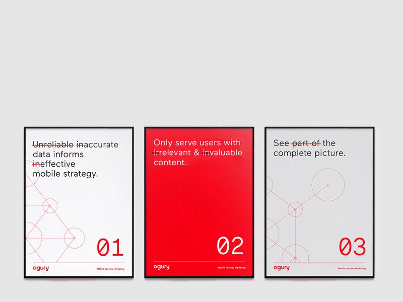 Ogury Posters identity rebrand print poster design agency branding brand identity corporate branding branding