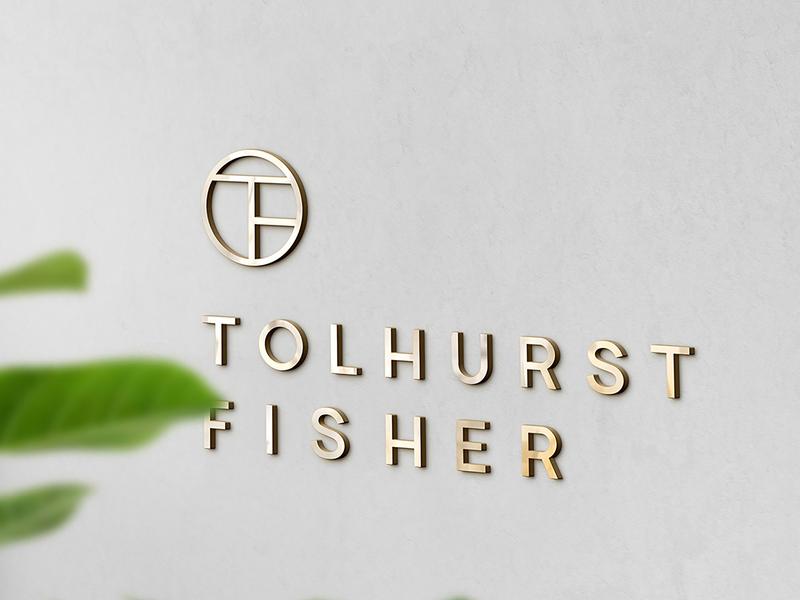 Tolhurst Fisher Logo solicitor law rebrand agency branding corporate branding brand identity logo design branding logo