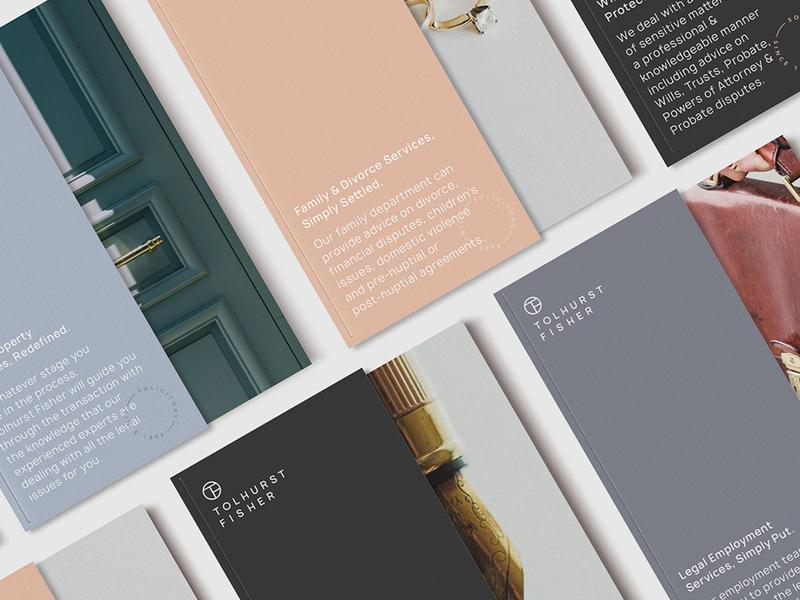 Tolhurst Fisher Brochure Covers solicitors law monogram marque rebrand agency branding corporate branding logo brand identity logo design branding