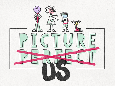 Picture Perfect Us stick figures adobe illustrator