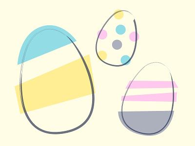 Easter Eggs easter egg midcentury retro holiday egg design easter