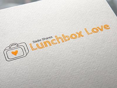 Lunchbox Love kid friendly logo design school lunchbox scribble kids childish logo