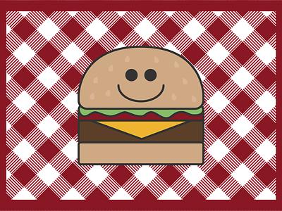 Happy Burger cute bun in the oven baby baby shower kids nursery invitation food burger