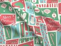 Midcentury Christmas Fabric