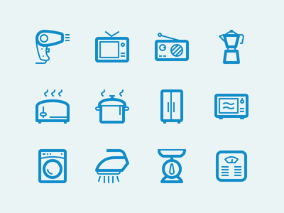 Home Appliance yaaaaaaaaaaaaaaaaaaaaaaaaaaaaaay kitchen hair dryer vect radio iron toaster scale icon pack icons icon lindua