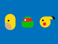 minimalized characters