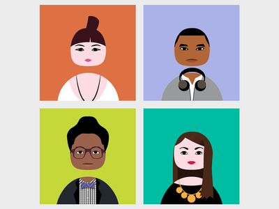 Eggheads illustrator profile pic portrait egg default icon twitter