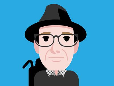 Steve O'Hear portrait illustrator journalist techcrunch