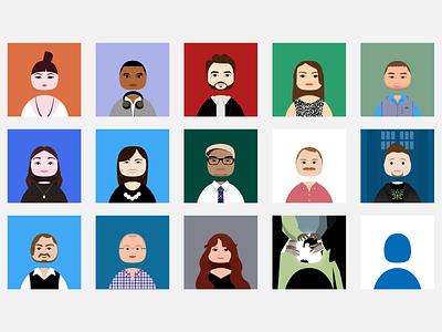Twitter Eggheads illustrator portrait avatar twitter twitteregghead