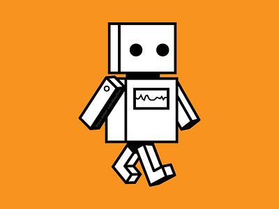 cardboard robot vector illustrator robot