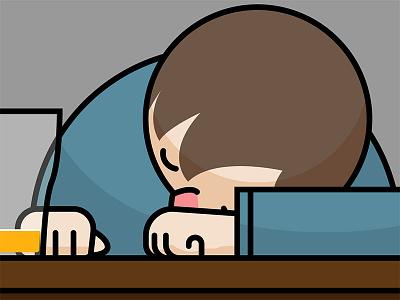 WIP illustrator sleepy beer bar drunk wip