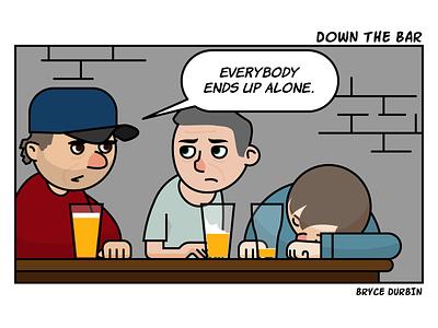 Down The Bar apmike.bandcamp.com calendar alcoholism depression illustrator drunks apmike bestshow4life