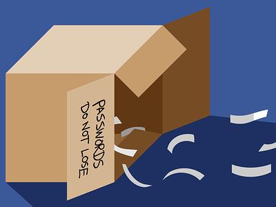Lost Passwords illustration illustrator