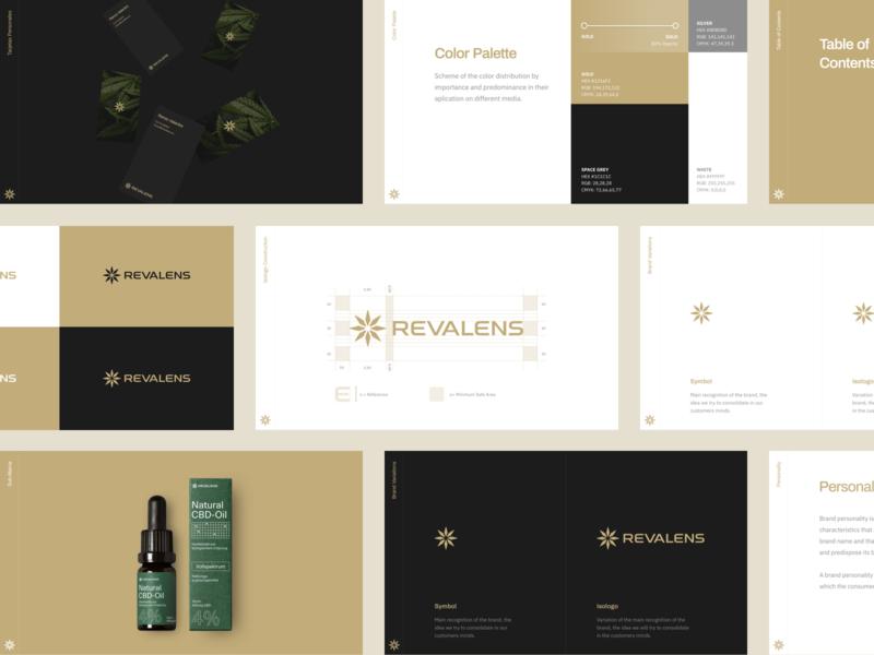 Revalens Brand Guidelines plant elegant logo cannabis logo cannabis hellohello typography rebrand branding brand