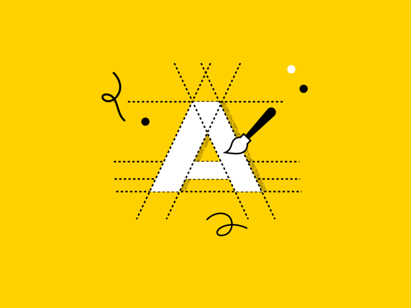 Brand Icon sketch yellow icon letter logotype startup brand logo branding illustration design