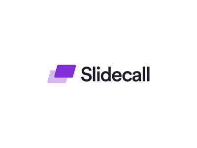 Slidecall Brand animation startup brand identity violet slide slidecall brand typography branding logo simple hellohello app design