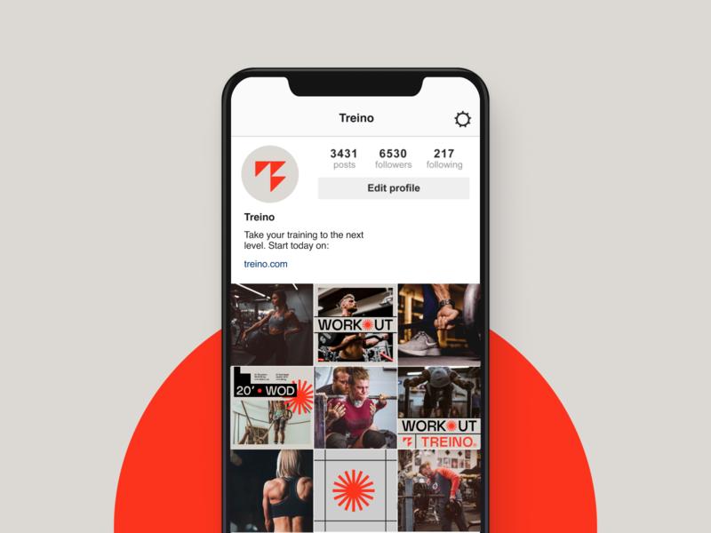Treino hellohello grotesk typography logo training workout instagram branding brand design