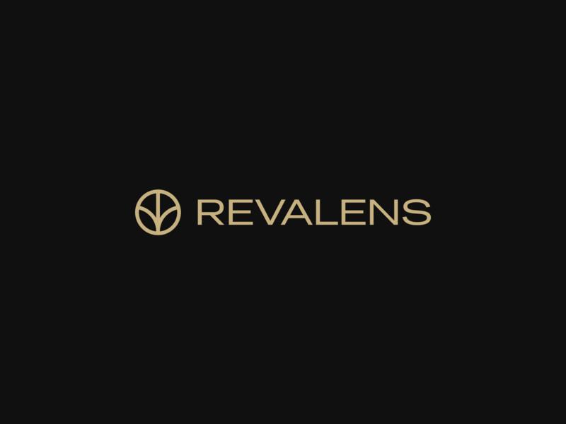 Revalens black dark gold revalens hellohello minimlist simple isotype brand marihuana branding design branding logo design