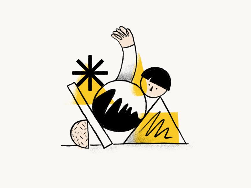 The power of illustration in design organic black white yellow handrawing handrawn vector illustration simple hellohello interface ui design