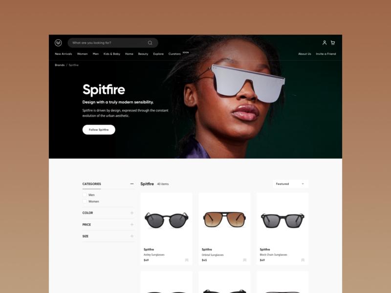 Marketplace products filter listing ecommerce shop elegant simple layout ecommerce website web hellohello minimal clean interface ux ui design marketplace