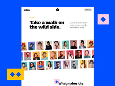 Wildfi landing aboutus people colorful white simple hellohello minimal clean interface ux ui design website wildfi