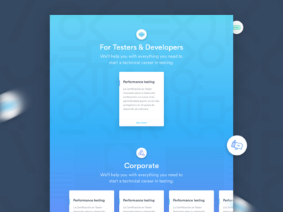 Abstracta Academy - Courses Landing Page