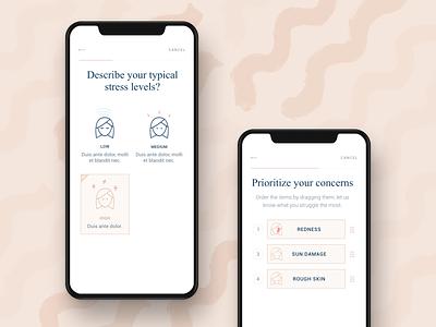 EllaMD ios iphone mobile design ui ux interface app clean minimal website web simple skin skincare dermatology responsive color brown hellohello