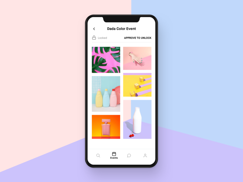 Foto Op design ui ux interface clean app minimal simple ios bold white hellohello photography service wall feed foto green pictures masonry