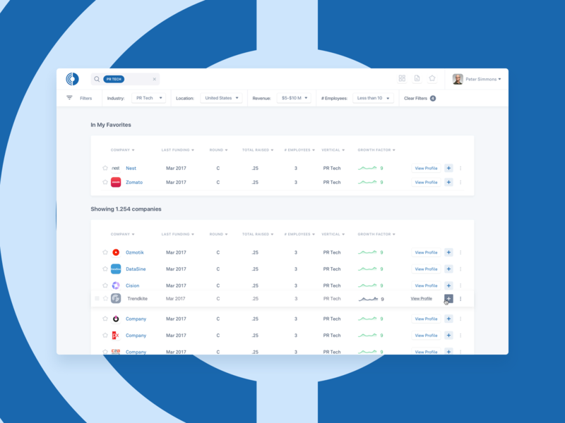 OPTX - Dashboard capital money growth finance design ui ux interface app clean minimal blue website web bold simple white cards corporate hellohello
