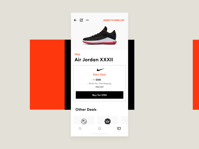 Sneakers - Trading mondrianism watchlist categories products hellohello red black white bold simple ios minimal clean app interface ux ui design shoes sneakers